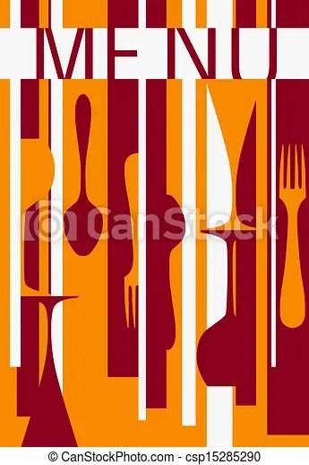 Template of menu background design for cafe or restaurant