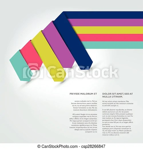 Text page template brochure, flyer, annual report cover
