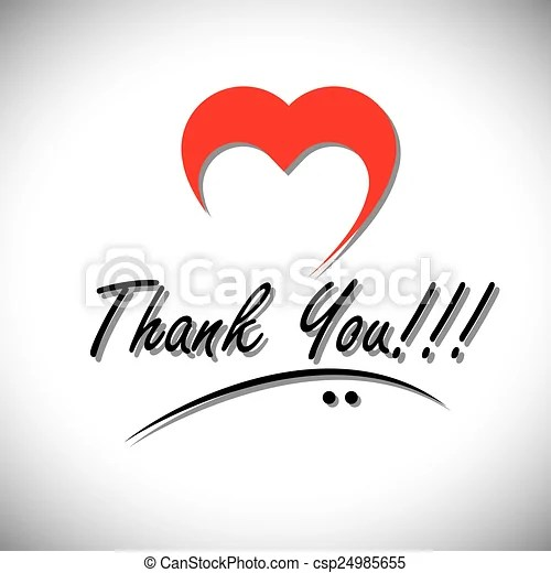 Thank you handwritten words vector with heart or love icon this