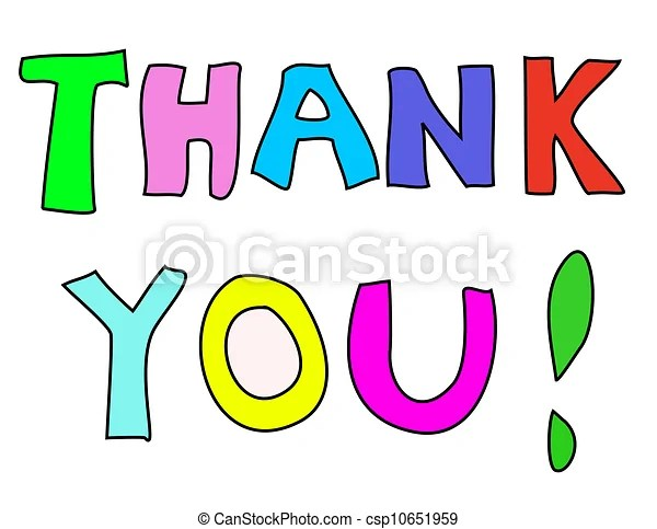 Thank you note Colorful thank you note - thank you note