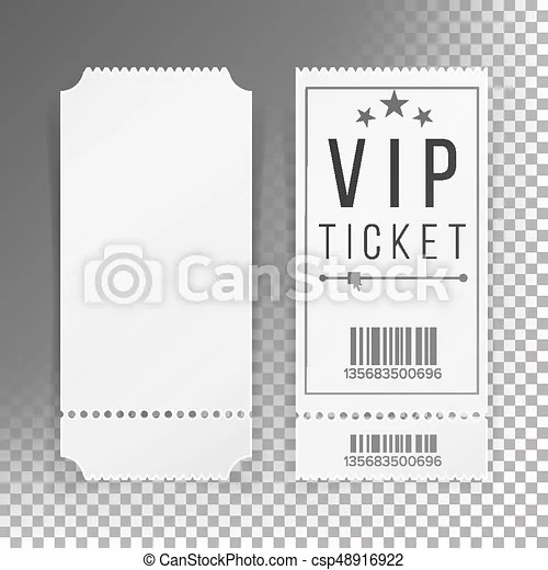 Vector Illustration of Ticket Template Set Vector Blank Theater - blank ticket template