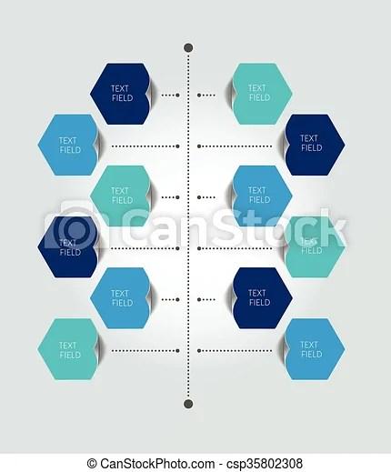 Timeline report template color shadow scheme, diagram vertical