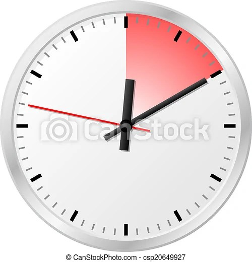 Vector illustration of a timer with 10 (ten) minutes