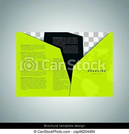 Trifold business brochure template design stock vector vector - tri fold business brochure