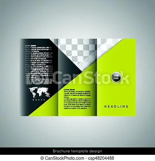 Trifold business brochure template design stock vector - tri fold business brochure