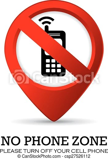 Turn off phone sign on white background vector clip art - Search - Turn Off Cell Phone Sign