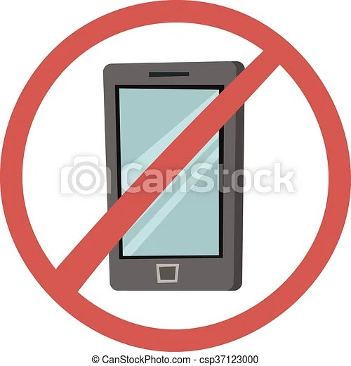 Turn off phone vector illustration No mobile phone allowed sign - Turn Off Cell Phone Sign