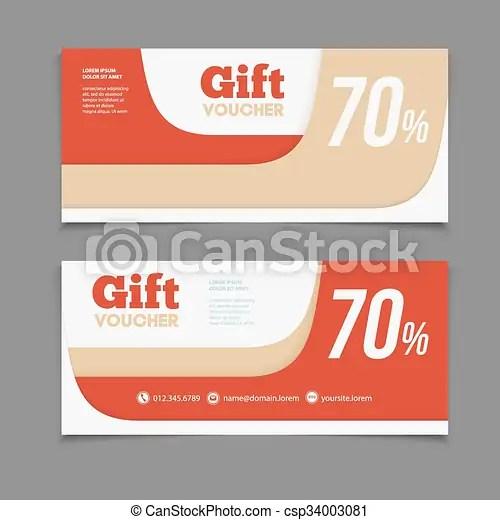Two coupon voucher design gift voucher template with amount - coupon voucher template