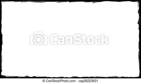 Unique black border on white background thin - black border background