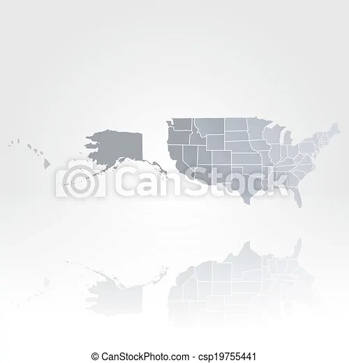 United states of america map background vector