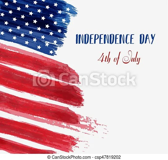 Usa independence day background happy 4th of july vector abstract - 4th of july template