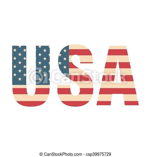 Usa word flag Flag united states of america patriotic usa vector - word flag
