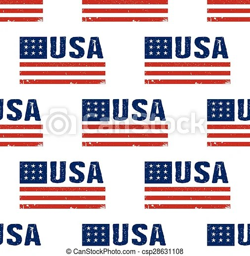 Usa word flag pattern backgrouond seamless - word flag