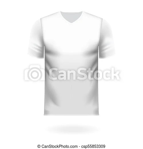 V neck tee shirt in generic white color