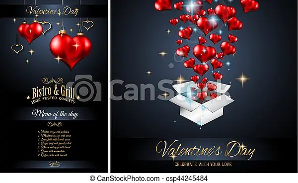 Valentine\u0027s day restaurant menu template background for romantic - event menu template