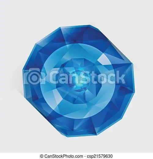 Vector abstract gem and blue ice Vector abstract gem and blue ball ice