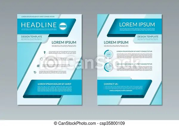 Vector brochure flyer template a4 size front and back page Vector