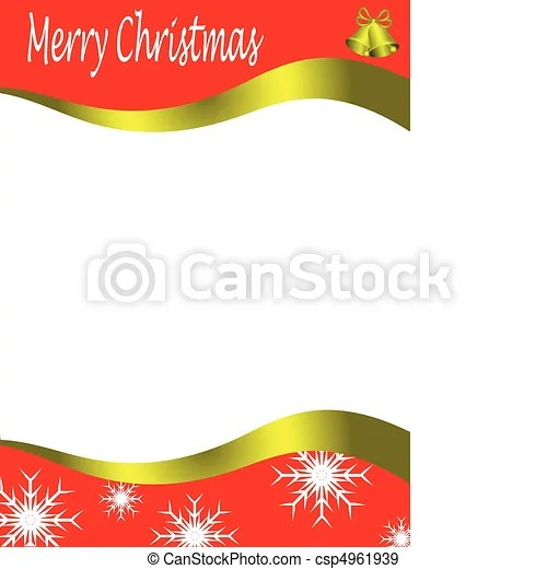 Vector christmas stationary wirh top and bottom christmas borders - borders for christmas letter