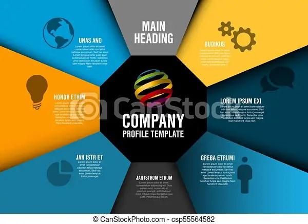 Vector company profile infographic diagram template with various - profile company template
