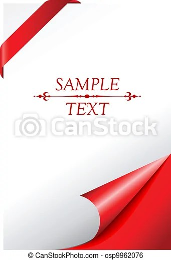Vector cover page with curled corner clip art vector - Search