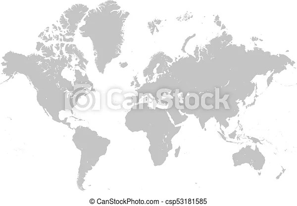 World map grey - Black And Grey World Map