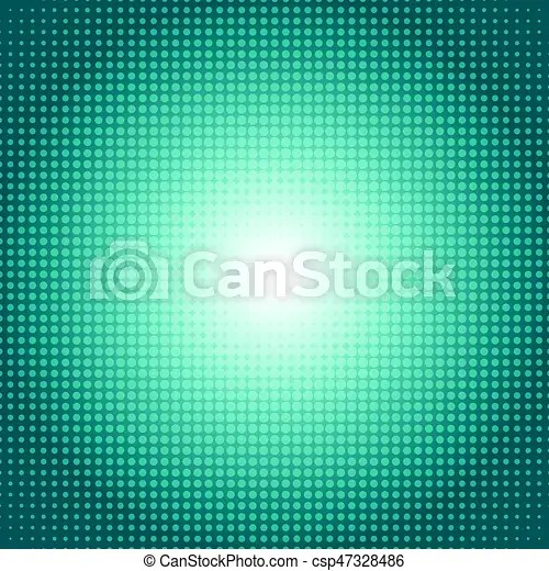 Vector dot gradient green halftone pattern abstract background concept