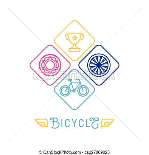 Vector hipster bicycle logo template - icons in trendy vector - hipster logo template