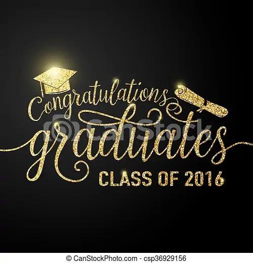Vector illustration on black graduations background congratulations