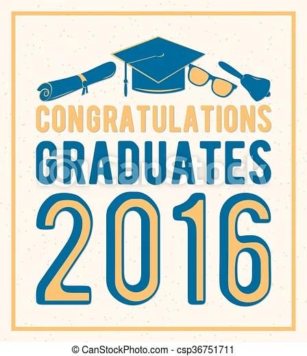 Vector illustration on light background congratulations graduates