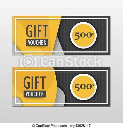 Vector modern gift voucher template set in material design vector - gift coupon template