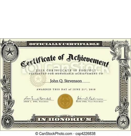 Vector official certificate template Vector highly detailed - certification templates