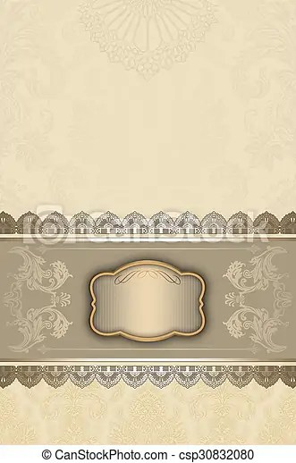Vintage invitation card design Vintage background with decorative
