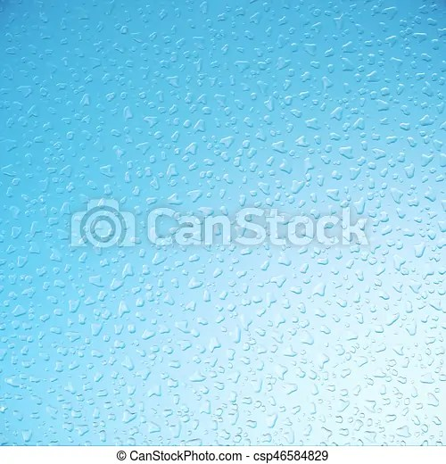 Water droplets on glass, sky background, close-up view, 3d clip - water droplets background