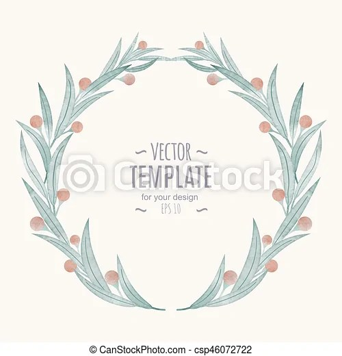 Card, watercolor wedding invitation design with flower, bud and