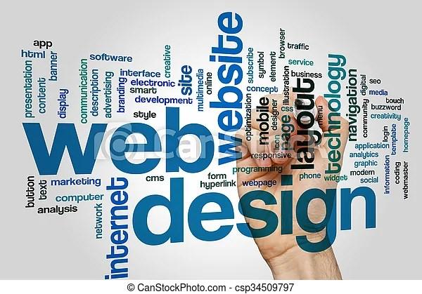 Web design word cloud Web design concept word cloud background