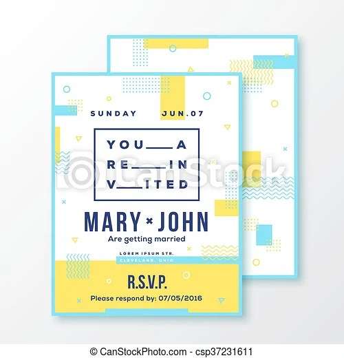 Wedding, event, party invitation card or poster template modern