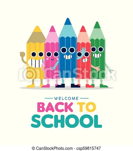 Welcome back to school cartoon pencil friends Welcome back to
