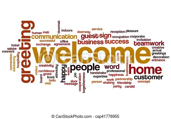 Welcome word cloud concept