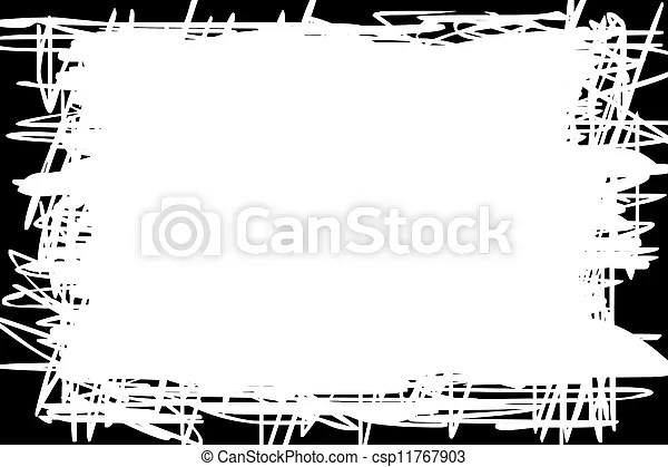White background with black border - black border background