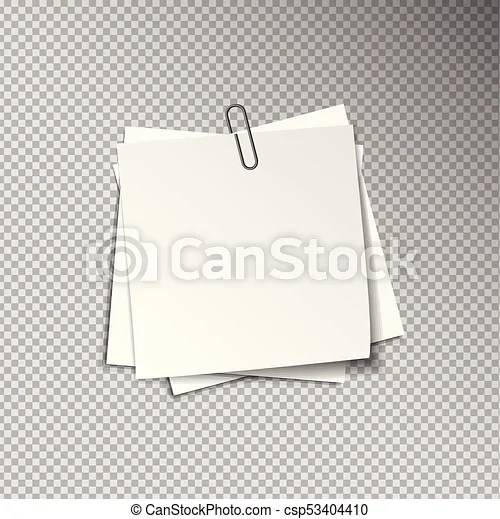 White sheets of pinned note papers White sheets of note papers