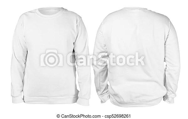 White sweater long sleeved shirt mockup template Blank sweatshirt