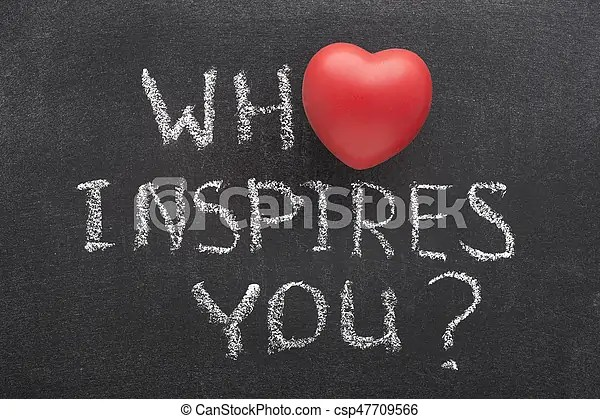 Who inspires you heart Who inspires you question handwritten on