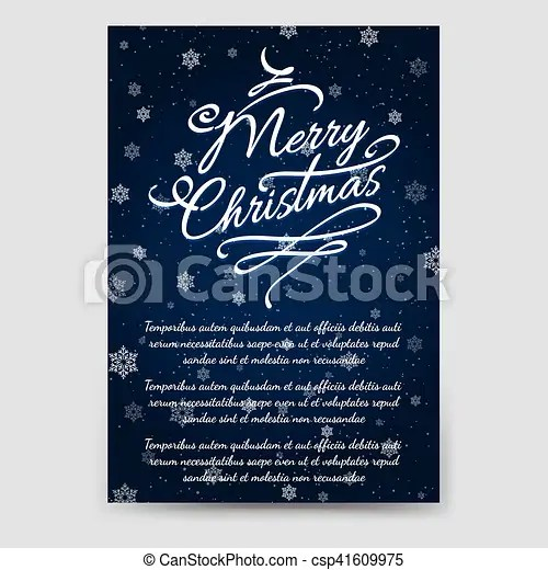 Winter brochure template with snowflakes Winter brochure flyer