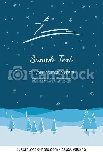Winter holidays poster New year winter season holidays poster
