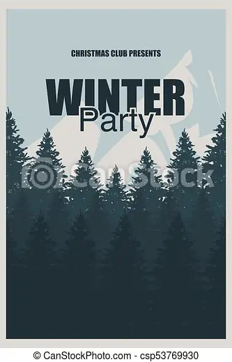Winter party flyer template an elegant christmas invitation in the
