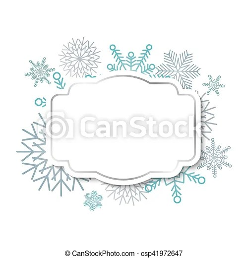 Winter vintage label on snowflakes background Winter vintage label