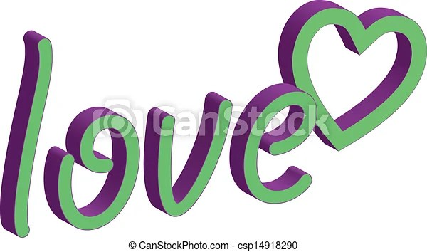 Word love clipart - word clip art