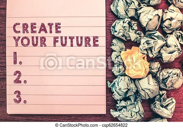 Word writing text create your future business concept for set