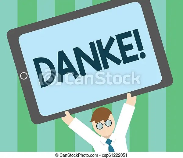 Word writing text danke business concept for used as informal way