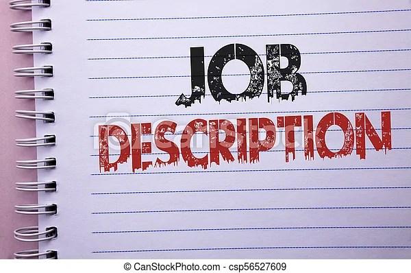 Word writing text job description business concept for document - Stock Job Description